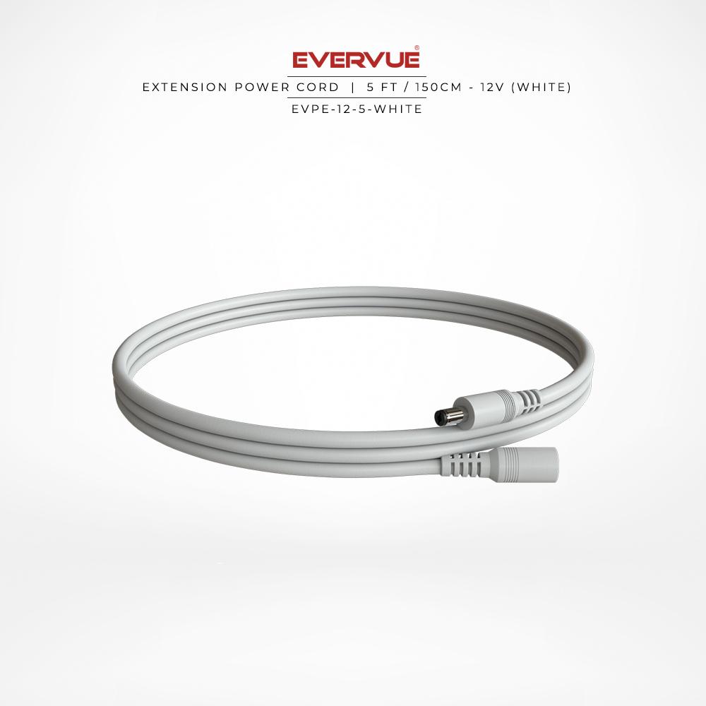 12V – 5ft / 150cm White – (OCCB-180-5W) $18.00