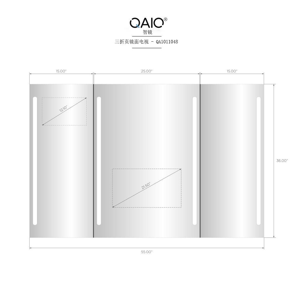 QAIO三倍版 55英寸宽 x 36英寸高,21.5英寸电视 (QAIO11048)