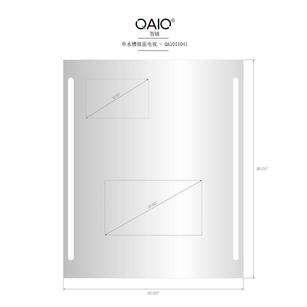 QAIO 30英寸宽 x 36英寸高 , 22英寸电视 (QAIO11041)